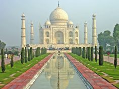 The Top 10 Greatest Landmarks in the World ~ Taj Mahal, Agra, India Travel Destinations In India, India Travel, Taj Mahal, Monument In India, Magic Places, India Culture, Visit India, Adventure Holiday, Adventure Travel