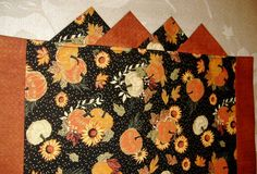 Table Runner Pumpkins Fall Harvest  Sunflowers by AStitchinTime72