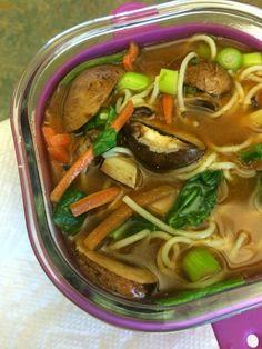 Vegan vegetable noodle soup