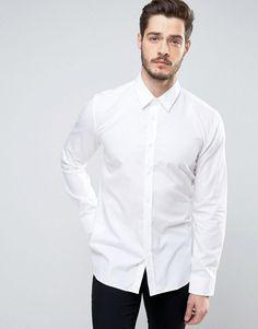 4e8a0a813 HUGO by Hugo Boss Elisha Slim Fit Basic Poplin Shirt - White Burton  Menswear, Men's