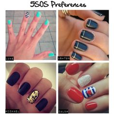 """""""5SOS Preferences: You Get Your Nails Done"""" by kikitara on Polyvore"""