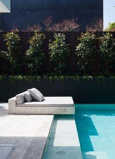Black Pool 22 Villa Design, Spa Design, Design Hotel, Modern Design, Outdoor Spaces, Outdoor Living, Outdoor Pool Areas, Terrasse Design, Swimming Pool Designs