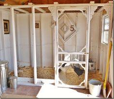 Chicken Coop. Screen Door! I LOVE old screen doors! I grew up with them; slamming, creaking, blowing in the wind. <3
