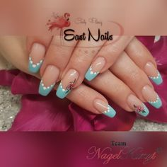 East - Nails by Cindy Nails, Ballerina, Beauty, Baby Blue, Nail Studio, Brushes, Painting Art, Finger Nails, Ongles