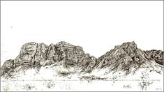 Available for sale online from StateoftheART, 'Like A Drop' by Marie-Adele de Villiers, ink on paper landscape size 76 x Mountain Illustration, Buy Local, Inspiring Art, Pyrography, Cape Town, Online Art Gallery, Adele, Beautiful Landscapes, Art Forms