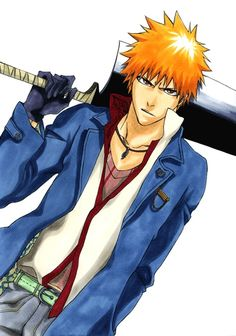 "Ichigo ""Strawberry"" Kurosaki 174 cm 61 KG Blood type: AO D.O.B. July 15th °likes slim fit shirts and pants °likes chocolate and karashi mentaiko °favorite celebrities are Mike ness and Al pacino °person he respects most is Walliam Shakespare 15 years old Hair: orange eye: Brown Occupation: High school Student/Soul Reaper"