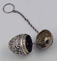 German 800 silver tea ball