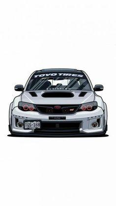 ideas for sport wallpaper autos Tuner Cars, Jdm Cars, Japan Cars, Car Drawings, Car Tuning, Car Wallpapers, Subaru Impreza Sti, Sport Cars, Custom Cars