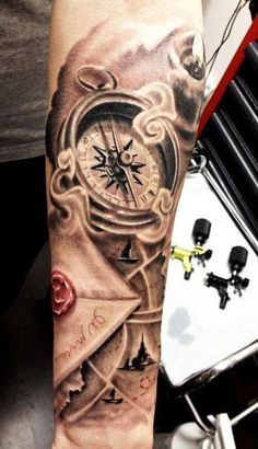 Realism Time Tattoo by Kobay Tattoo - http://worldtattoosgallery.com/realism-time-tattoo-by-kobay-tattoo/