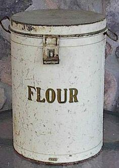 1930's Flour Bin or Cannister by phmekjb7 on Etsy, $75.00