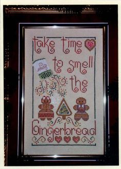 Smell The Gingerbread  cross stitch pattern by by TheCrossIBare, $5.60