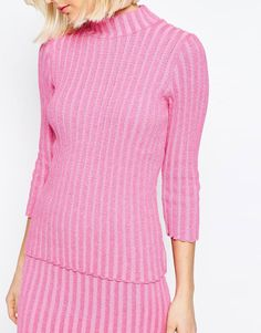 Image 3 ofASOS co-ord Jumper In Plated Rib