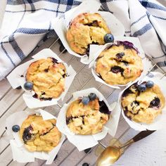 Banana Blueberry Muffins                      – LEAH ITSINES