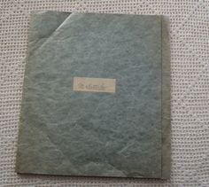 Vintage Darning Sampler French Schoolgirl Exercise Book M. Paper Folder, Exercise Book, Open Weave, Darning, Sewing Techniques, French Vintage, Blue And White, Monogram, Schoolgirl
