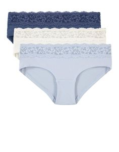Lace Trim Stretch Cotton Midis 3 Pack   Woolworths.co.za Lingerie Sleepwear, Lace Trim, Packing, Comfy, Pure Products, Swimwear, Model, Cotton, How To Wear