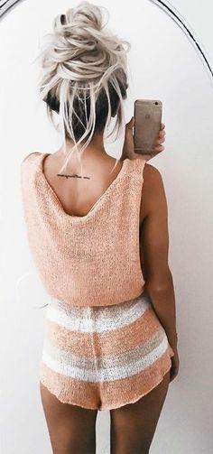 Tangerine Knit Romper Source