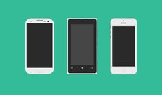 Flat Mobile Phones - 365psd