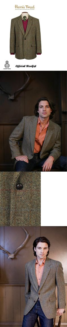 Outerwear Coats and Jackets 175771: Harris Tweed Taransay Classic Jacket Official Stockist Virgin Wool All Sizes -> BUY IT NOW ONLY: $149 on eBay!