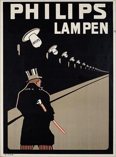 Postcard advertising Philips lamps – The Man With The Top hat (circa Pub Vintage, Vintage Cards, Vintage Signs, Vintage Advertising Posters, Old Advertisements, Poster Ads, Cool Posters, Illustrations, Vintage Prints