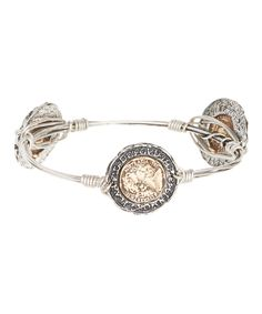 This Two-Tone Coin Bangle by Mica is perfect! #zulilyfinds