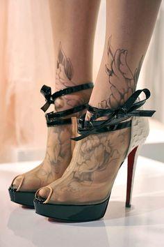 Marchesa shoes - rad tattoos.....ḺỚV℮