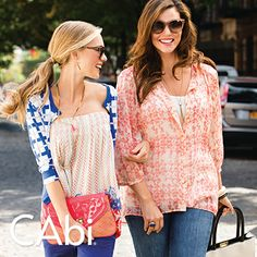 The CAbi Spring 2014 Collection has outfits for all your weekend plans. No matter where you're going, these tops are the perfect match to to everyday denim. http://www.cabionline.com/