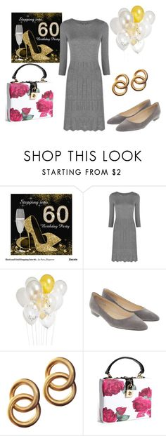 """Off to my mom's birthday party"" by sassyladies ❤ liked on Polyvore featuring Laura Ashley, Crate and Barrel and Laura Lombardi"