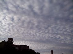 Stoned sky over Sajazarra. La Rioja. Spain.