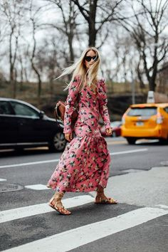 If you haven't quite had your fill of pink yet this season, make this Prada-inspired M&S dress your next purchase. Clashing red floral print puts a fashion-forward spin on the look, whilst a ruffled high-neck, velvet piping, fluted sleeves and ruched finish add a designer level of detail. Here's how we'll be styling the must-have piece…