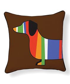 This Stripe Dachshund Reversible Throw Pillow by NAKED DECOR is perfect! #zulilyfinds
