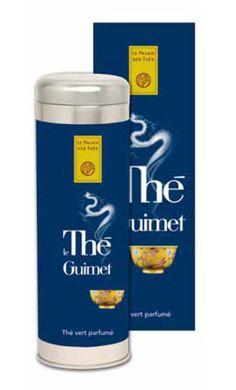Thé Guimet: thé vert, yuzu, bleuet (clin d'oeil au « bleu Guimet » qui a été à l'origine de leurs fortune)
