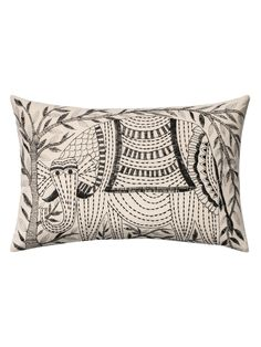 Embroidered Pillow from Tons of Textures: Bedding & More on Gilt