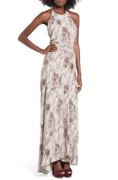 547b17e256d2 ST. studio Drapey Feather Print Maxi Dress available at #Nordstrom Feather  Print, Draped