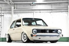 *From way back. Love that color...& fitment. (VW Golf Mk I).