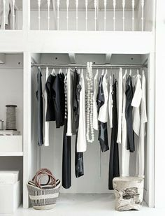 Clean and Contemporary Interior | White Wooden Hangers