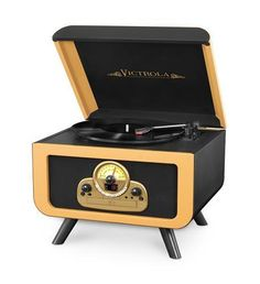 Victrola Vintage Tabletop Record Player with Bluetooth and CD Player plays all of your vinyl records and favorite albums. Off Grid, Vintage Records, Vintage Music, Vintage Soul, Bluetooth Record Player, Stereo Speakers, Liquid Chalk Markers, Record Players, Entertainment Center