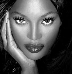 Supermodel, Naomi Campbell, one of the top three most in-demand models, in the late 1980s and early 1990s.