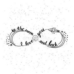 Dé la frase exhausta de las letras de la tipografía te amo a la luna y a la parte posterior aisladas en el blanco Tarjeta del sím. Foto acerca cotización, concepto, deletreado - 68051311 Mom Daughter Tattoos, Mother Daughter Tattoos, Tattoos For Daughters, Mom Tattoos, Cute Tattoos, Unique Tattoos, Small Tattoos, Tatoos, Anchor Tattoos