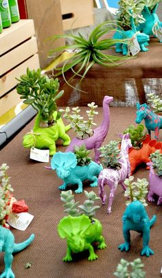 Dinosaur : Planters (lovely party favours)