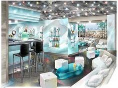Nigh-club Interior And Exterior, Interior Design, Sketch Design, Night Club, Furniture, Drawing, Home Decor, Architecture, Spaces
