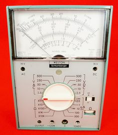 1970's Weston Model 660 Ohm Volt Meter in Leather Case   RD10378  Go back to Tin Can Alley - FOR SALE: http://www.bagtheweb.com/b/PBdAfQ