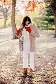 Bright layers topped off with a camel coat | fall trends