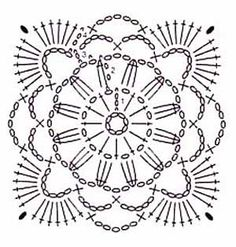 Pretty Crochet Handbag with Graphics and Free Pattern – Granny Square Crochet Motif Patterns, Crochet Diagram, Crochet Chart, Crochet Designs, Free Crochet, Bag Patterns, Flower Patterns, Knit Crochet, Crochet Handbags