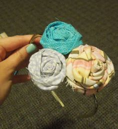 DIY- How to make Fabric Flowers for a headband