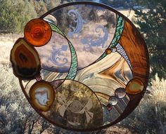 Your place to buy and sell all things handmade Stained Glass Panels, Leaded Glass, Stained Glass Art, Mosaic Glass, Stained Glass Projects, Stained Glass Patterns, Window Art, Window Ideas, Hand Blown Glass