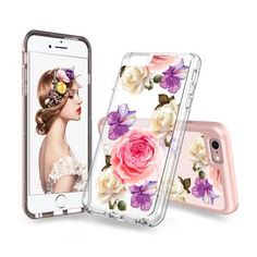 coque maooy iphone 8 fleurs colorees