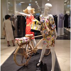 "LE BON MARCHE,Paris, France, ""On your bike"", in-store, pinned by Ton van der Veer"