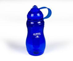 Plastová športová fľaša s potlačou. Potlač sloganu. Reklamný predmet.