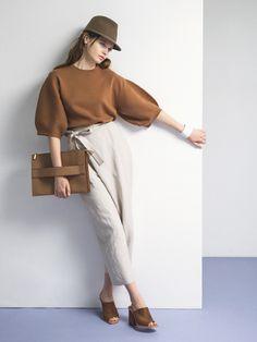 Pin by Key Thippakdee on กางเกง Minimal Fashion, Trendy Fashion, Womens Fashion, Fashion Trends, Fashion Fashion, Looks Style, My Style, Beige Outfit, Blouse Designs