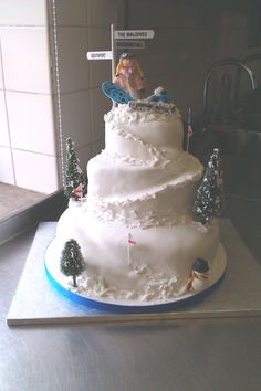 Snowboarder wedding cake Más